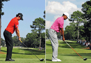 Posture Rory MacIlroy et Tiger Woods