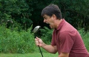 Le stress du golfeur